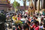Visitors in the Temple of the Emerald Buddha (Wat Phra Kaew)