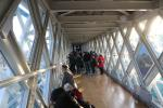 Visitor area of the upper deck of the Tower Bridge