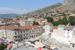 View from the top of the minaret of Koski Mehmed Pasha Mosque or Karađoz Bey Mosque in Mostar